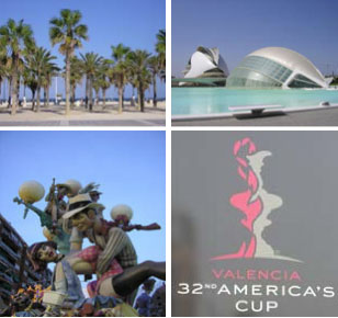 Valencia beach Malvarossa, City of Arts and sciences, The Fallas of Valencia and the 32th America's Cup