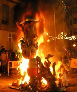 La fête des Fallas de Valencia