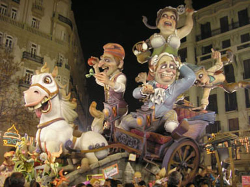 Fallas de Valence-Espagne