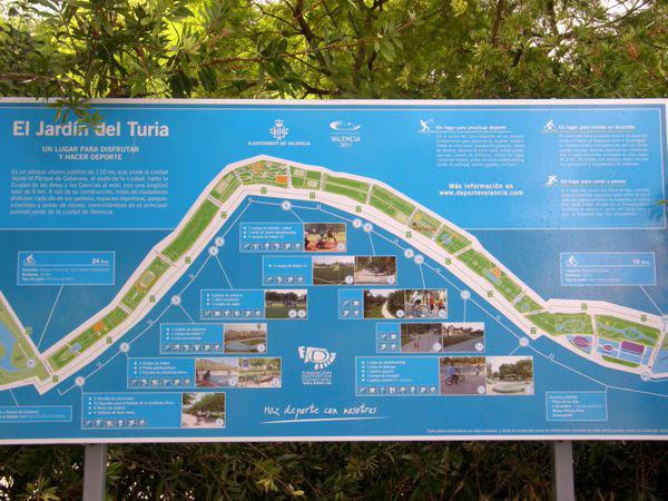 Plan du Jardin Turia