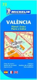 Carte Michelin de la ville de Valence
