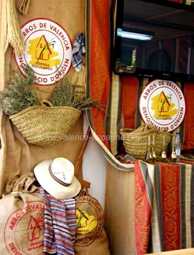 Stand du riz de Valencia
