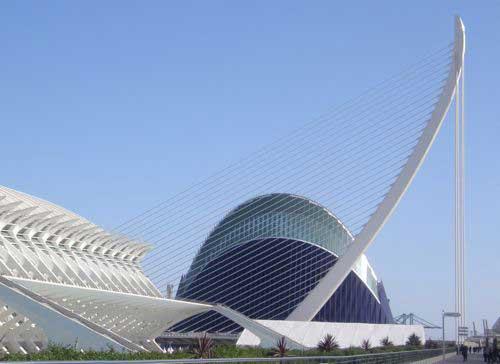 Santiago Calatrava Le Pont de l'Assut de l'Or à Valencia